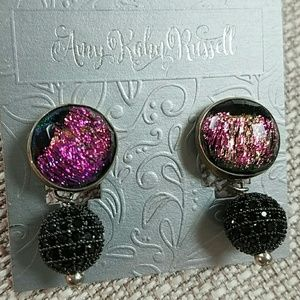 Amy Kahn Russell EARRINGS Dichroric Glass Sterling